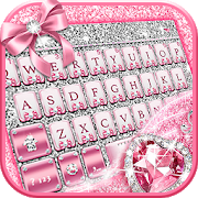 Pink Bow Diamond Luxury Keyboard Theme