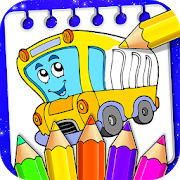 Vehicle Drawing and Coloring Book