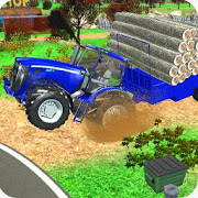 Village Tractor Games:Chained Tractor Offroad Game