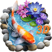 3D Koi Fish Theme & Lively 3D Ripple Effect