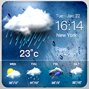 Daily weather forecast widget☂