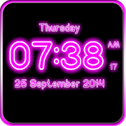 Neon Digital Clock Live Wallpaper