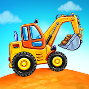 Truck games for kids - build a house 🏡 car wash