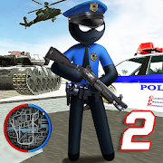 US Police Stickman Vegas Rope Hero City Gangster 2